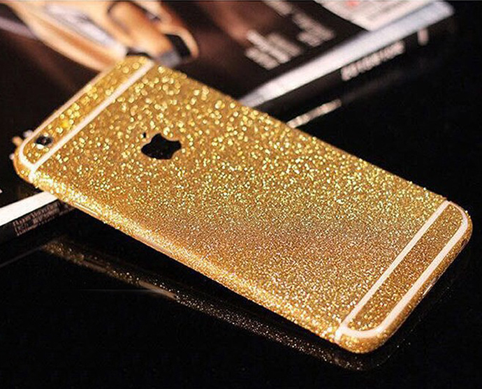 Big Promotion Glitter phone skin sticker for i6 / 6 plus / 6s / 6s plus with cheapest price