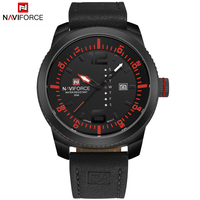 2016 NAVIFORCE Brand Leather Band Men Quartz Sport Wrist Watch Water Resistant Male Relogio Masculino
