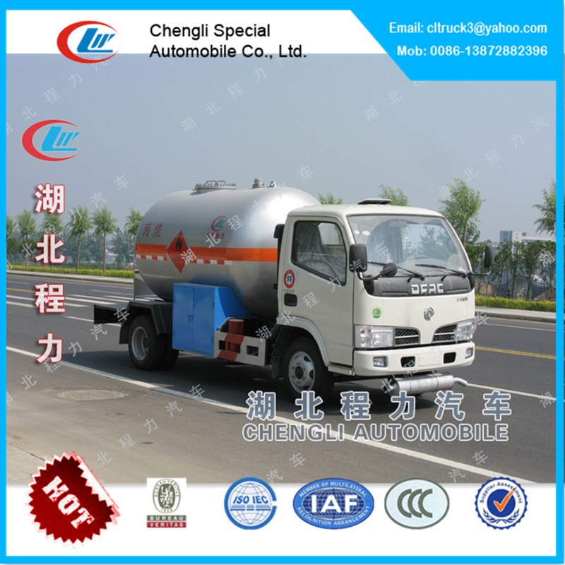 Dongfeng mini LP gas tank truck for sale