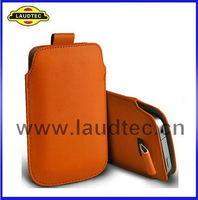 Pull Tab Leather Case Pouch For Samsung Galaxy S3 mini i8190,For Samsung Galaxy S3 mini i8190 Pouch Cover,Laudtec