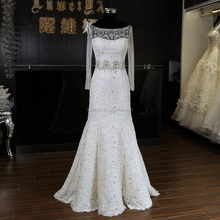 Most Popular Appliqued Fish style Elegant Wedding Dresses In Guang zhou wedding dress2016