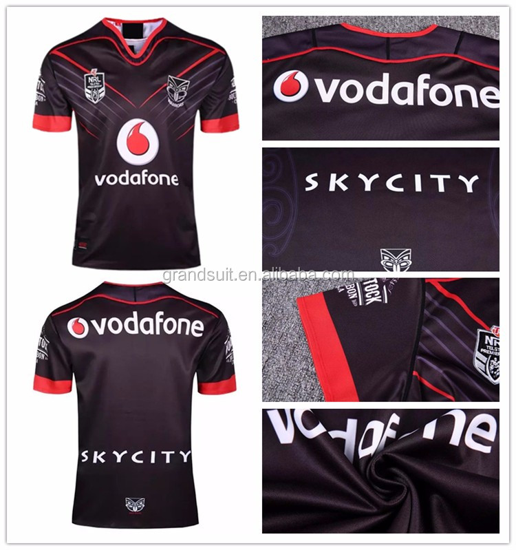 New design all digital printing rugby league jerseys with black and other color