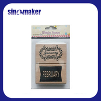 wood Wood Material and Decoration Use rubber stamp for scrapbook