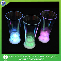2016 New Product Brand Promotional Plastic Flashing Liquid Activated LED Glass, Multicolor Light Up Cup, Drinking Led Cup