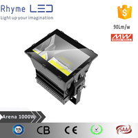 Special heat dissipation design outdoor 1000 watt led flood light with meanwell driver
