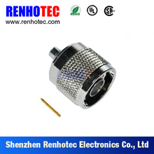 Qualified male plug N crimp connector with competitive price for euro market
