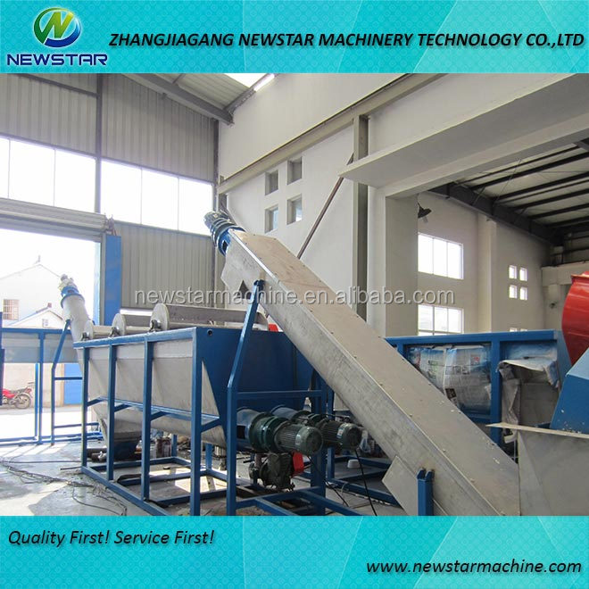 Plastic waste cleaning machine PET waste recycle washing plant