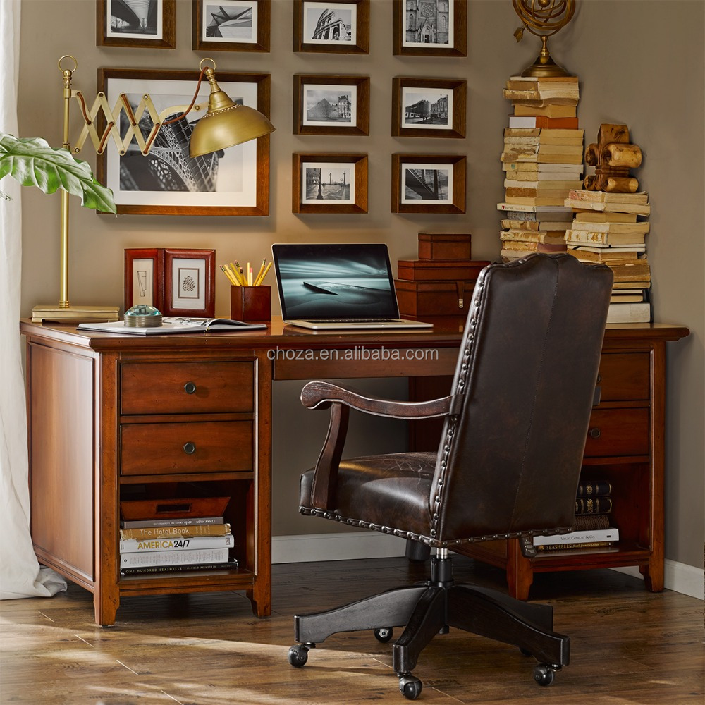 F40313A-1 European style luxury wooden executive office desk,classic wood carving office desk
