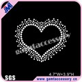 Wholesale Crystal Love Heart rhinestone transfer for garments