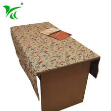 Custom factory Cheap Jacquard embroidered tablecloth cotton