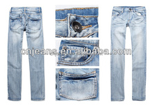 GZY factory price overstock wholesale men mix it jeans