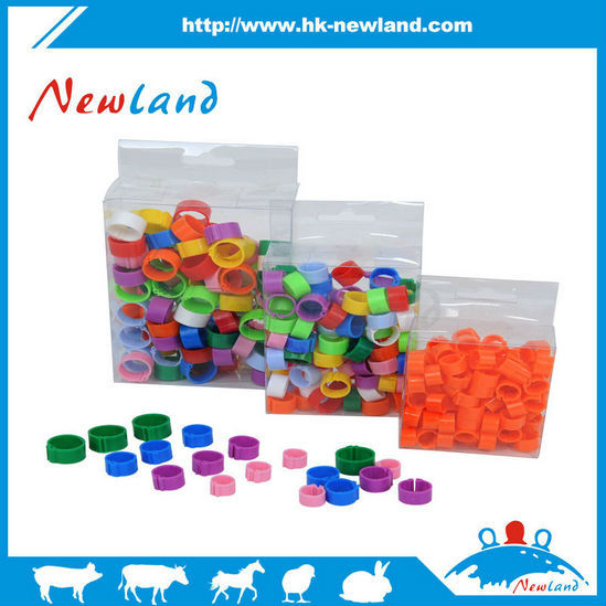 Newland NL621 factory direct price colorful plastic birds leg rings foot ring clips