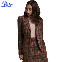 High quality ladies fashion women multi-color design stripe winter sweater coats cardigan dress suits