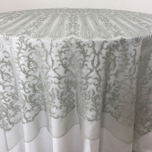 wholesale wedding event silver made in china angel adhesive 6ft table cloth
