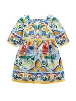 2017 Wholesale Colored Glaze Flower Short Sleeve Dress For Girls