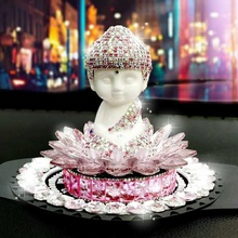 2017 Hot Selling Diamond Rhinestone Buddha Car Perfume Seat For Car Decoration