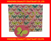 2016 fancy paper gift bag/custom paper packaging bag for gift