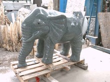 stone carved elephants for outdoor decoration