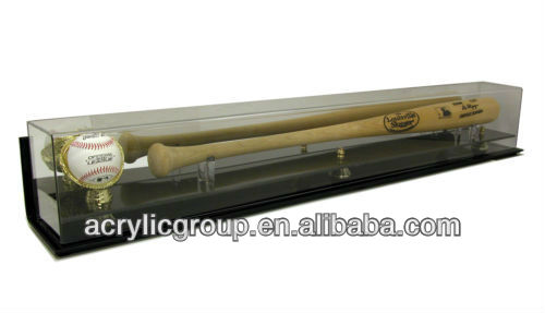 Factory sells elegant deluxe acrylic baseball bat and ball display case