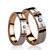 Rose gold Plated tungsten carbide couple ring CZ stones inlay lover ring with Grooved