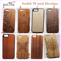 2016 high quality woode mobile phone case cover for iphone