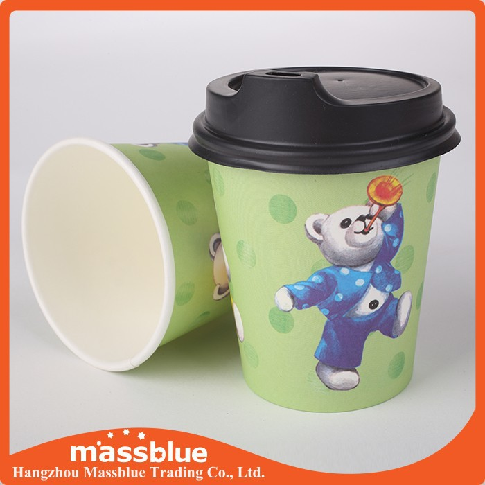 Quality 6oz Single Wall coffee paper cup design