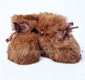 CX-SHOES-07D Alibaba Wholesale Real Rabbit Fur Baby Shoes