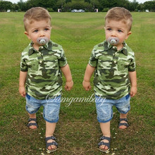 Fashionable boy suit summer cotton short sleeve T-shirt+Childens jeans