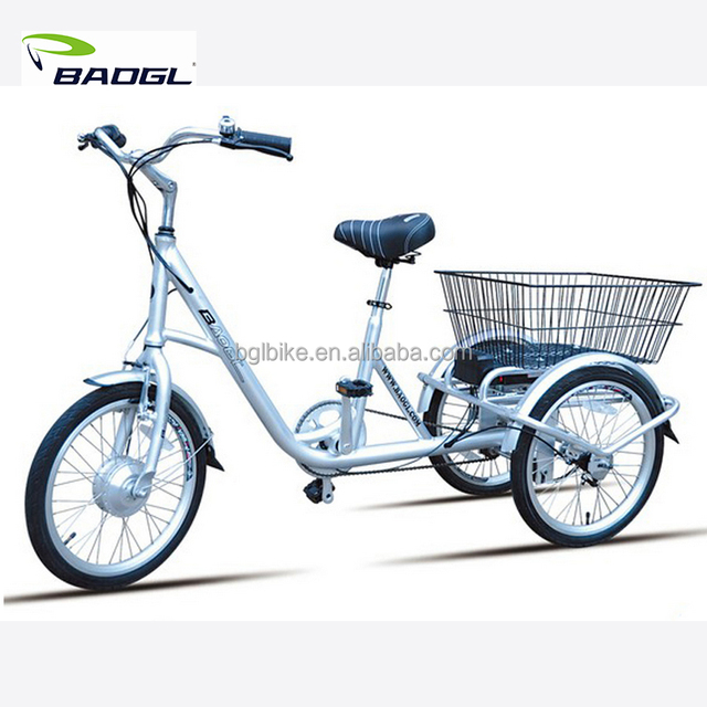 2017-2018 New upgraded three wheel electric bike for adults/ safe, beauty and strong three wheel e-bike with lithium battery