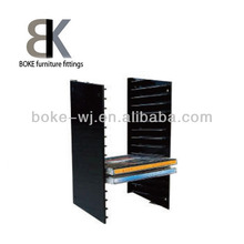 High quality hot sell plastic CD rack