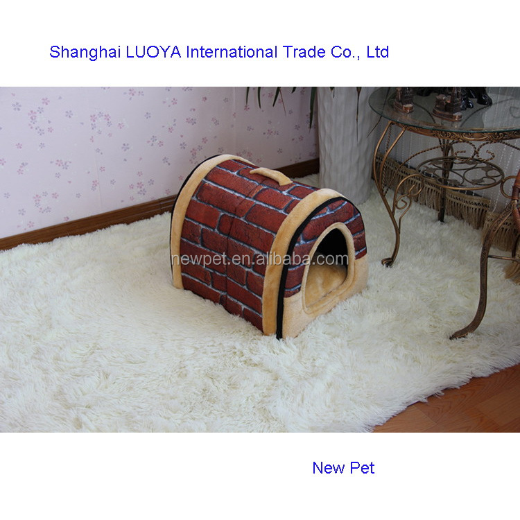 Quality assured low price arch foldable brick house dog house pet s