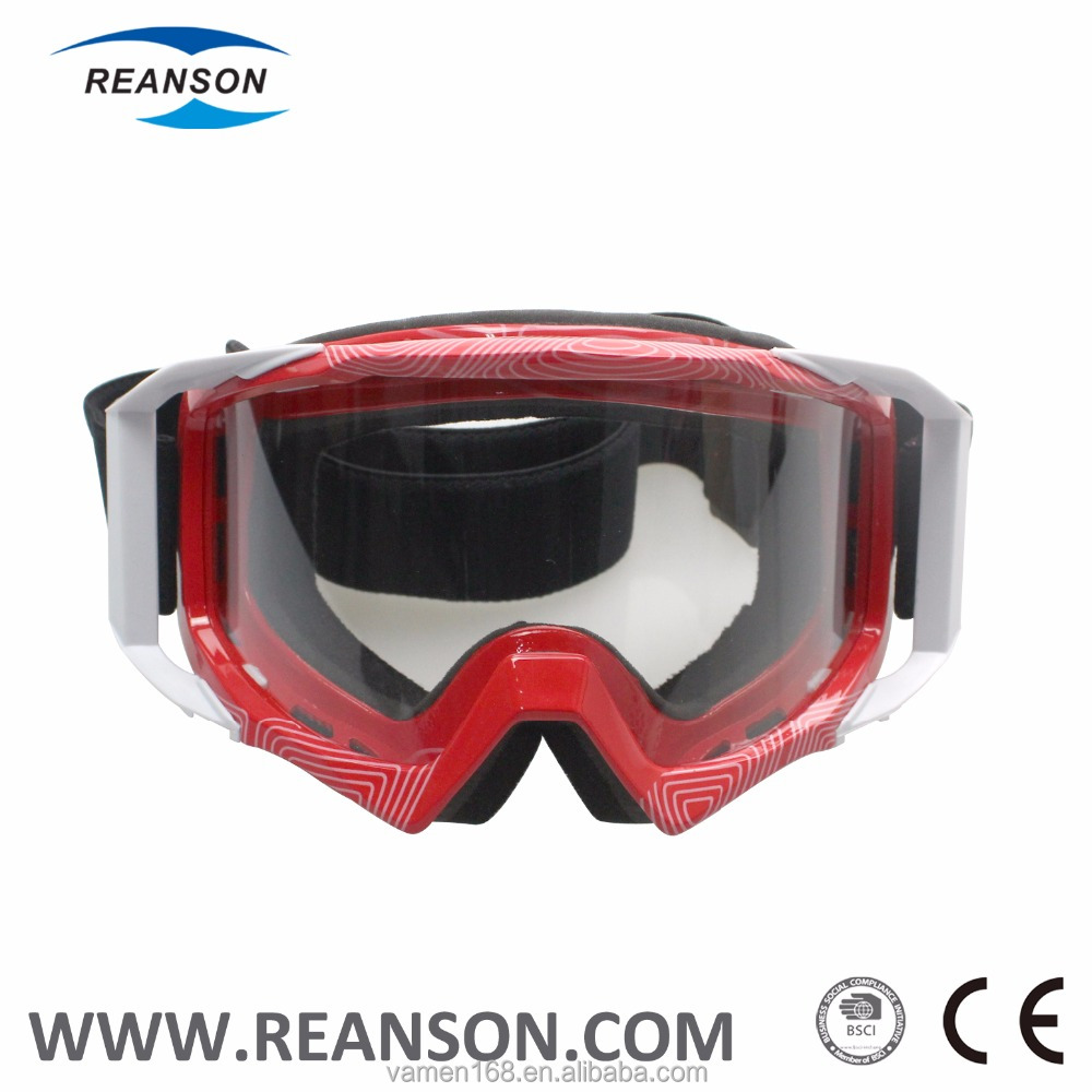 Anti-Scratch Motorcross Goggles with PC Lens and Coating Frame