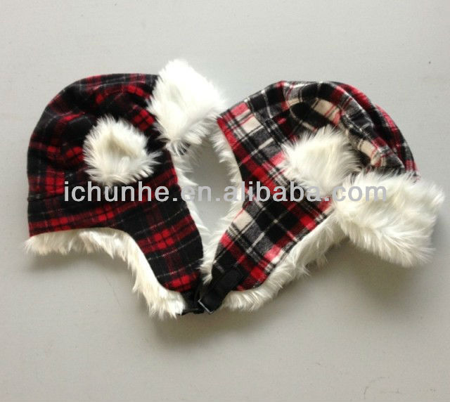 fashion windproof soft & warm earflap women fur winter hats