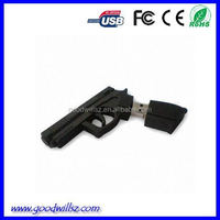 pvc mini gun shape usb flash Drive for kids gift