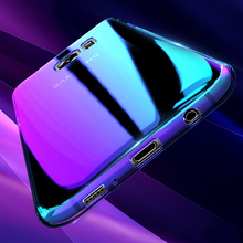 New Coming Aurora 3D Blue light electroplating PC mobile phone case for Samsung J330 J530 J730 2017 4 colors
