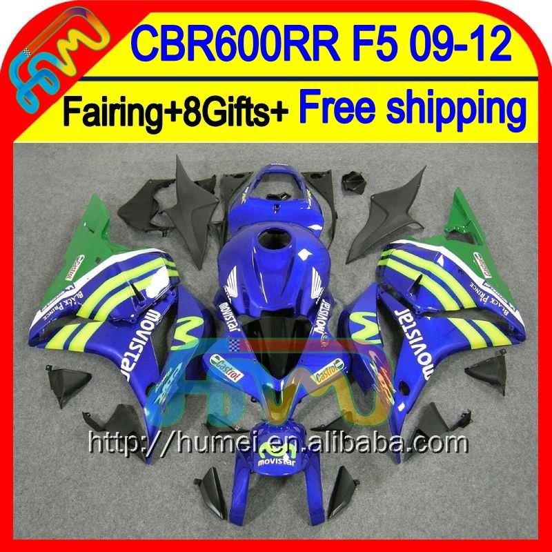 8Gifts For HONDA Movistar Blue CBR 600RR 600 RR 2009 2010 2011 2012 47HM75 CBR600 RR F5 CBR600RR 09 10 11 12 Injection Fairing