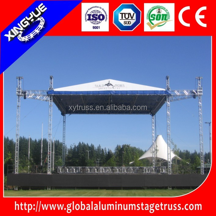 Large stadium event truss system, gym stage lighting truss