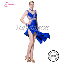 2016 Sexy Optic Fiber Latin Samba Dance Dress L-14115