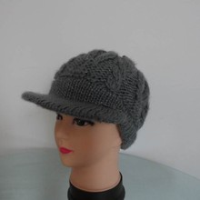 Female Gender and Knitted Hat Winter Hat Type Knitted hat with peaked