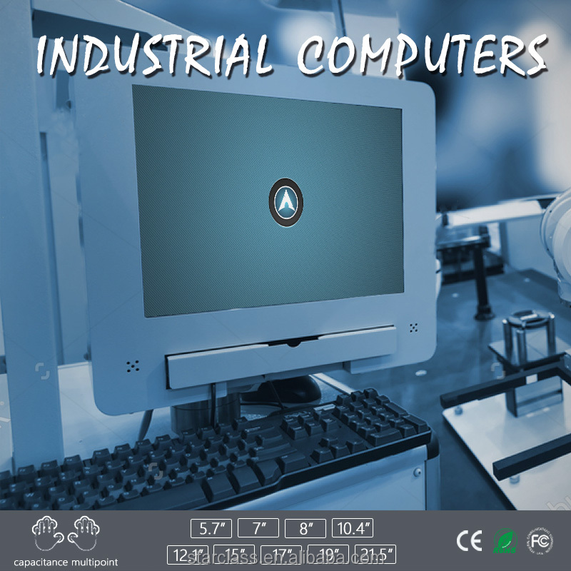 open type industrial Panel Computer with touch display