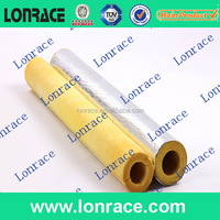 industry insulation rock wool tube/pipe with aluminium cladding