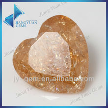 3A heart shape 8*8mm champagne synthetic gems