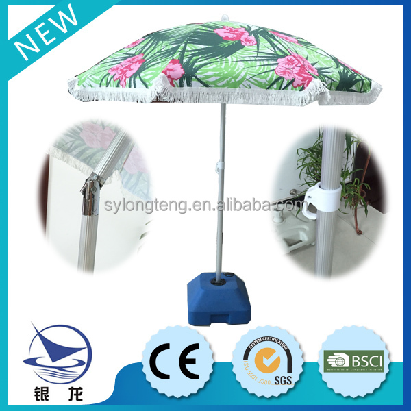 Factory Offer High Quality Double Layer 8 Sides Lace Beach Umbrella