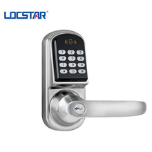 silver keyless smart card entry home deadbolt door lock