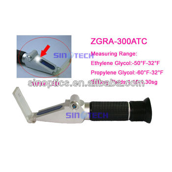 Hand held LED lighted propylene glycol coolant battery Refractometer ZGRA-300ATC