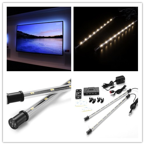 LED Home Theater TV Backlight Color-changing Light Strip Glow RGB Accent Kit