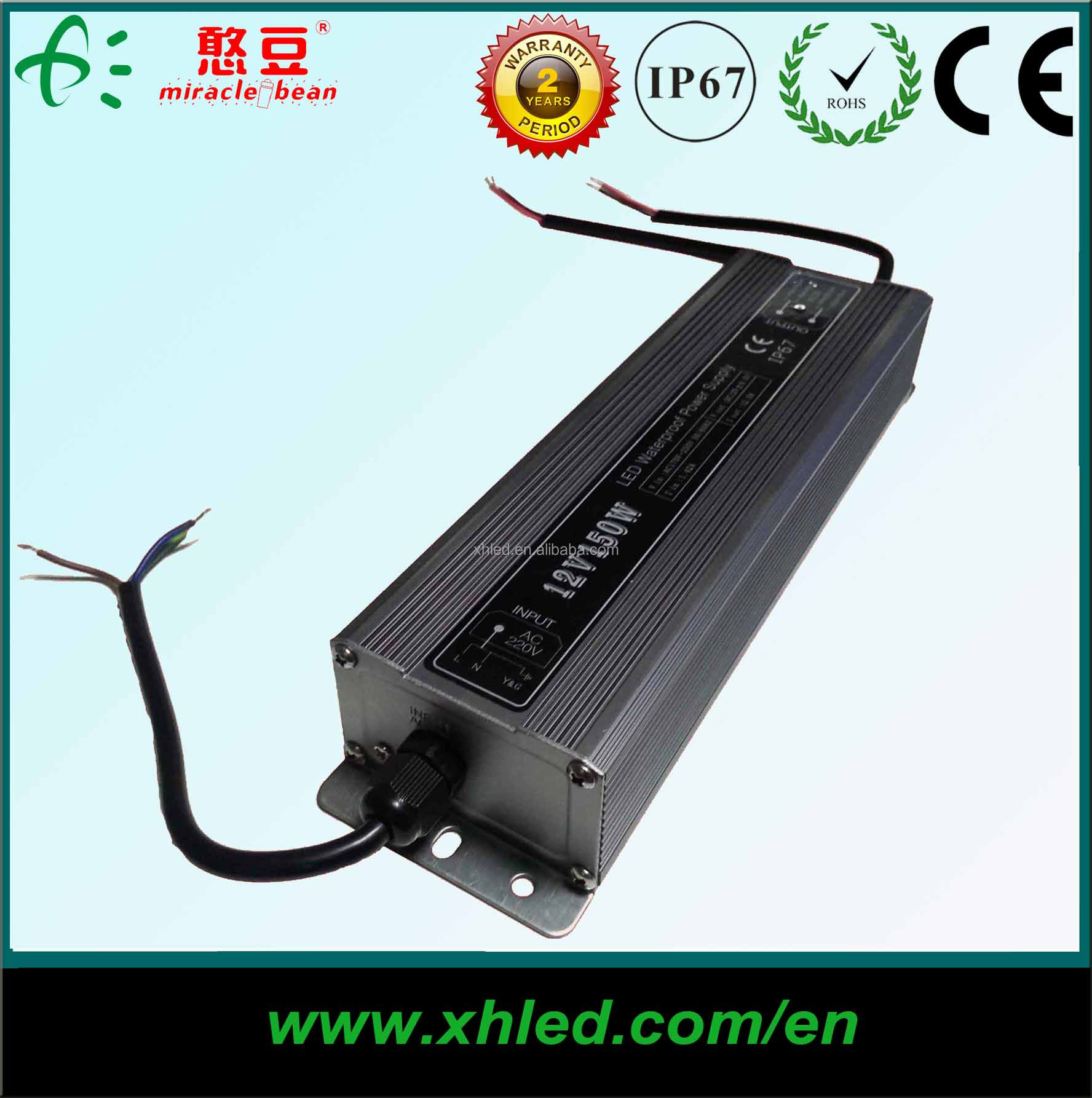 Factory Waterproof AC DC 150W Switching Power Supply 12V For LED Light