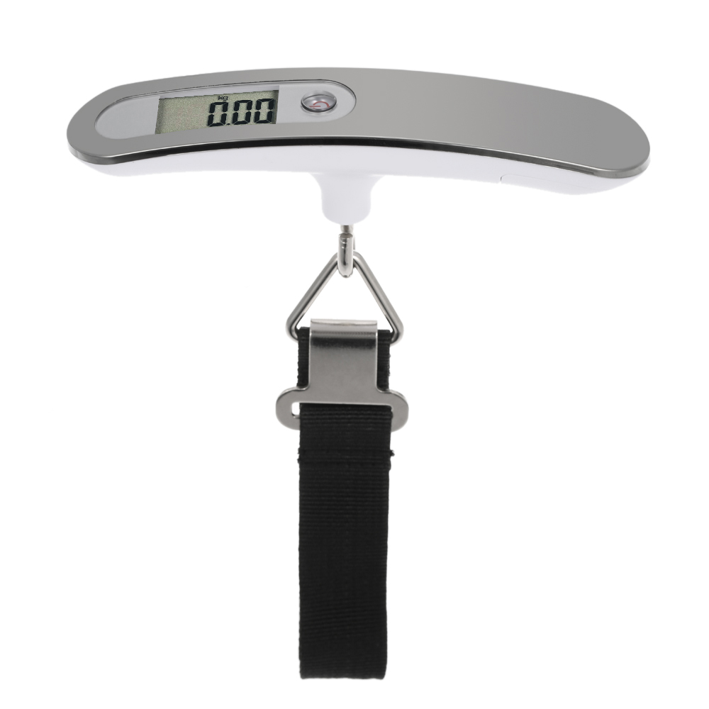 Portable 50KG/10g Digital Luggage Scale LCD Electronic Hanging Pocket Scale Weight Balance Data Hold Tare Auto Power Off