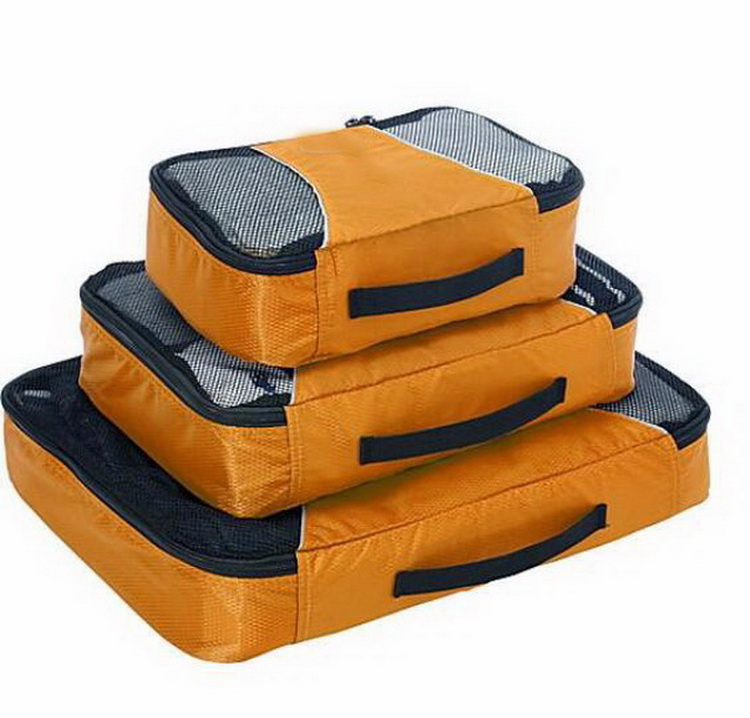 Compression 3 pcs set packing cubes cloth organizer for <strong>travel</strong>