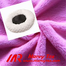 100% polyester faux fur long pile plush fabric for dog bed